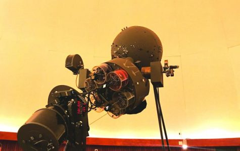 The Wible Planetarium's star projector awed the audience on Wednesday, Sept. 13, 2017.
