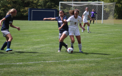 Bryanna Urso, '21, fends off a Spartan offensive player on Sept. 9, 2017 at the Robertson Athletic Complex. The Gators lost 2-1 in overtime.