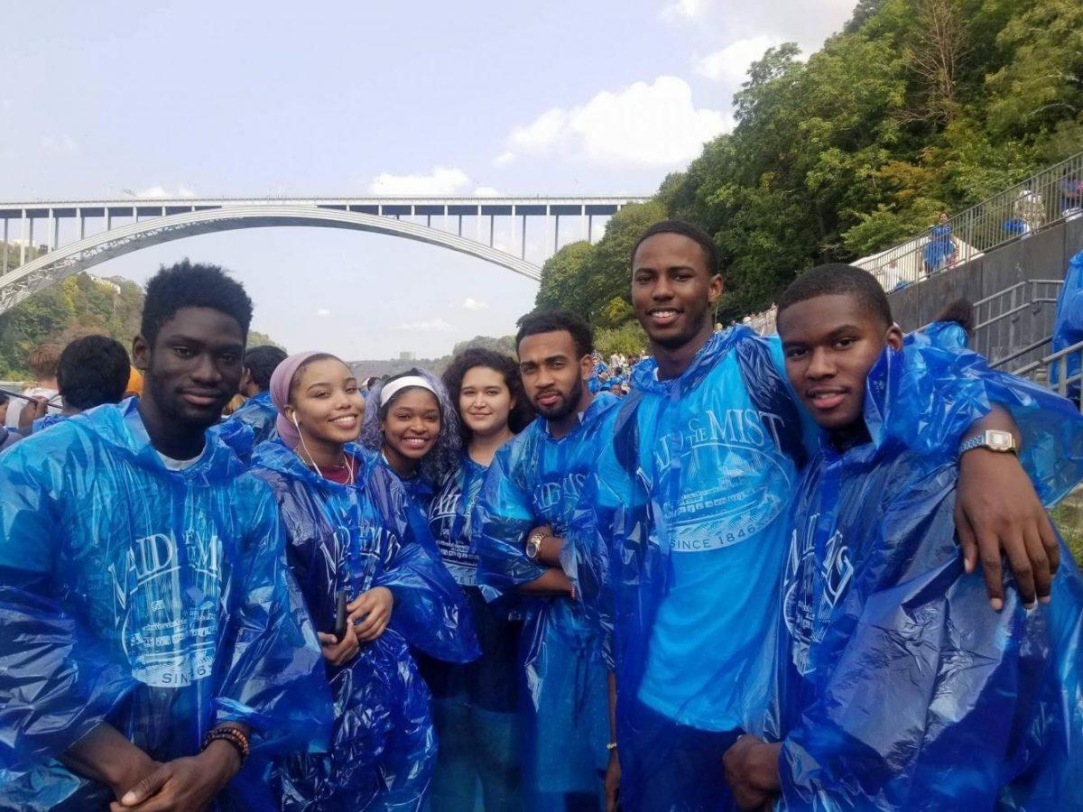 International Club students pose at Niagara Falls on Saturday, Sept. 16, 2017.
