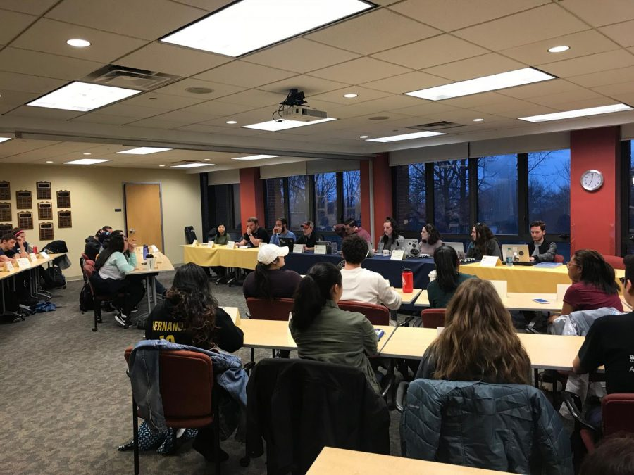 Allegheny Student Government reviewed three organization's constitutions and received updates from the College Committees Council during its meeting on Tuesday, April 4, 2018.