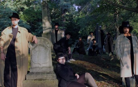 """The publicity photograph for """"Mortified"""" depicts the cast in a graveyard. """"Mortified"""" debuted Thursday, Sept. 27, 2018, and runs through Sept. 30."""
