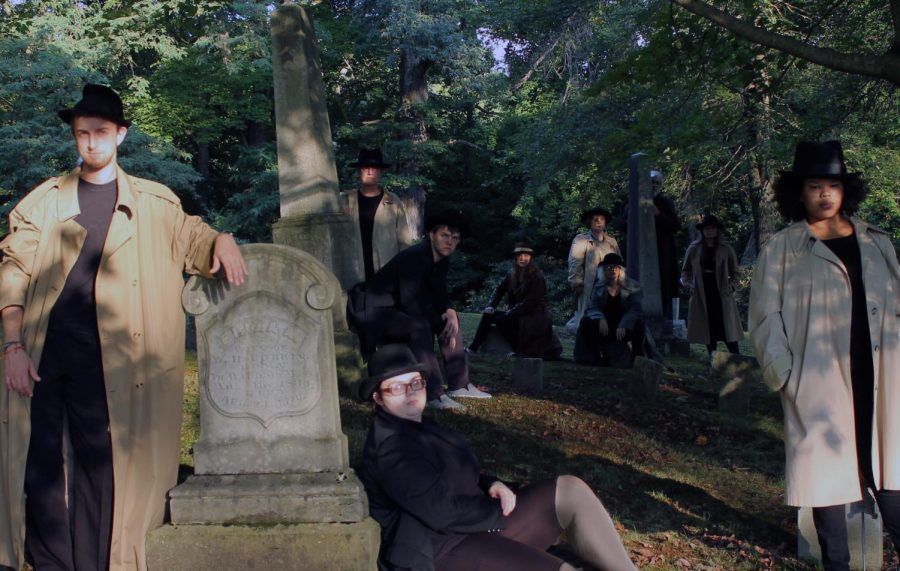 "The publicity photograph for ""Mortified"" depicts the cast in a graveyard. ""Mortified"" debuted Thursday, Sept. 27, 2018, and runs through Sept. 30."