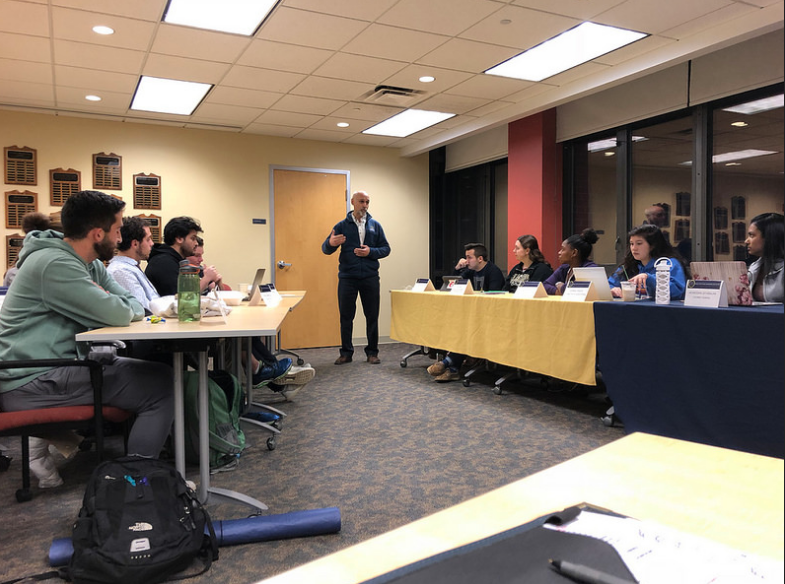 Provost and Dean of the College Ron Cole attended ASG's general assembly meeting Tuesday, Oct. 30, 2018.