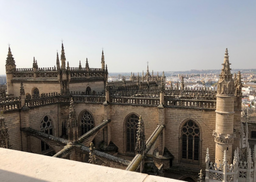 La+Cathedral+de+Sevilla+photographed+from+La+Giralda+on+Feb.+20%2C+2019.