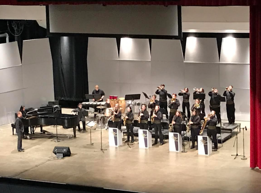 Maplewood Junior/Senior High School Jazz Band, directed by Jamie Gardner, joined Allegheny's High School Jazz Band Festival.
