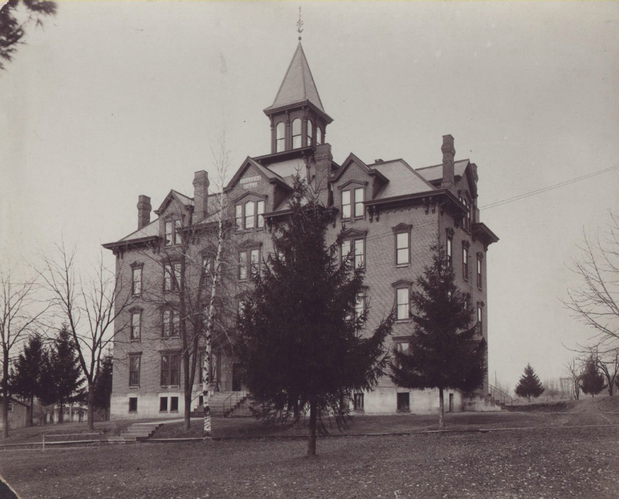The+original+Hulings+Hall+stands+in+1881%2C+after+being+constructed+in+1879%2C+as+the+first+on-campus+residence+hall+for+women%2C+who+were+permitted+to+enroll+at+Allegheny+College+in+1870.+