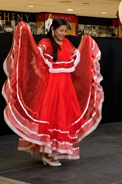 Union Latinx hosts traditional Nicaraguan dance troupe, Daughters of the Corn on Tuesday, Sept. 17, 2019, in the Henderson Campus Center lobby.