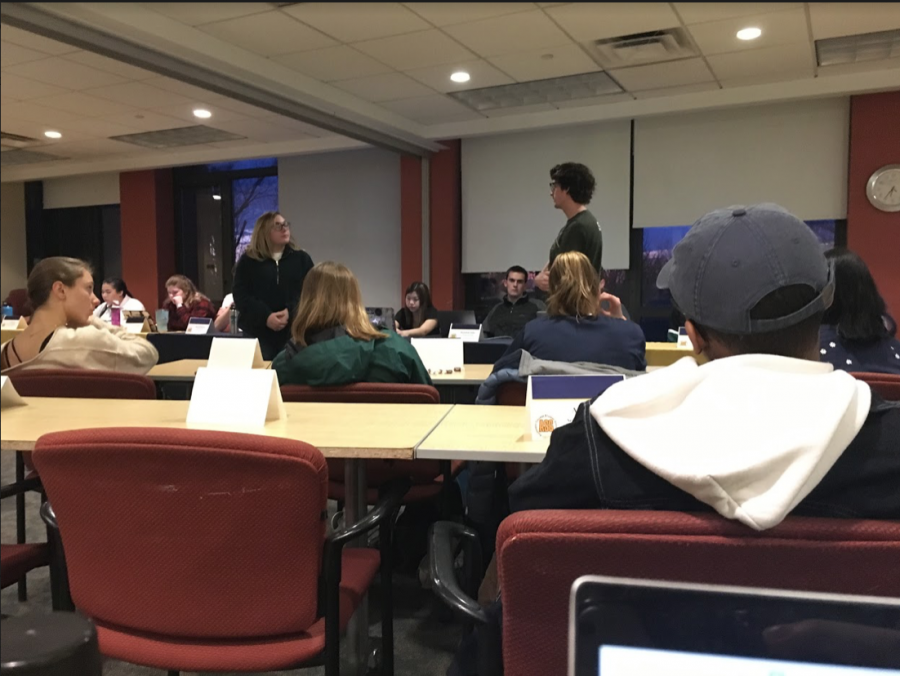 Allegheny Student Government welcomes members of the Honor Committee to discuss the honor code at general assembly at 6:30 p.m. on Tuesday, March 3, 2020, in the Henderson Campus Center.