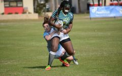 Zafirah Abdulrahoof, '19 competes in the National Small College Rugby Organization All-Star Tournament in 2018.