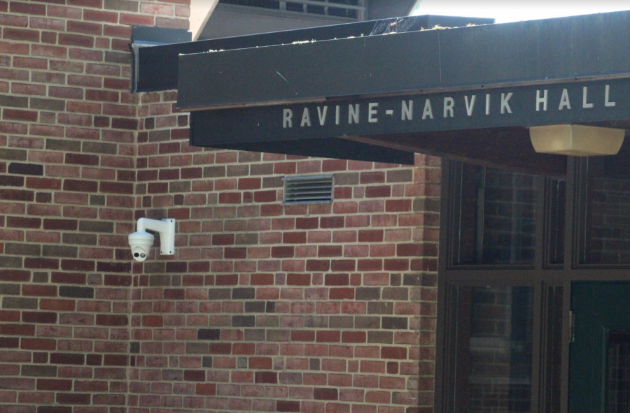 Security camera installed at Ravine-Narvik Hall