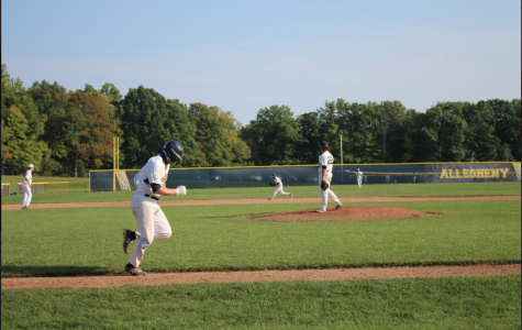Allegheny men's baseball team practice for the fall 2020 season during the COVID-19 pandemic