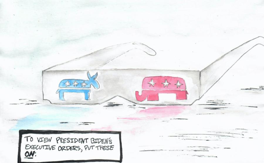 Editorial cartoon: Executive orders
