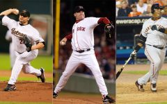 Roger Clemens (left), Curt Schilling (middle), and Barry Bonds (right) garnered the three highest voting percentages on the 2021 ballot, yet a slew of controversies have kept them out of the Hall for another year.