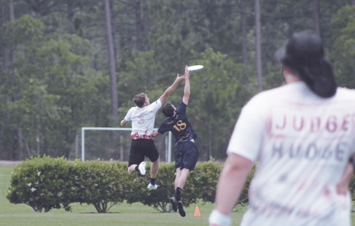 Nathan Loria, '22, catches the disc during High Tide