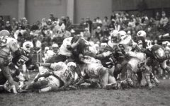 An Allegheny football against Hiram in the PAC from Oct. 5, 1983