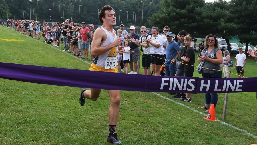 Tim Weighart, 22, coasts to a first place finish in the Allegheny Classic on Saturday. Sept. 18.