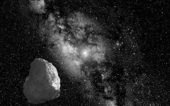 An artists interpretation of the Kuiper Belt Object.