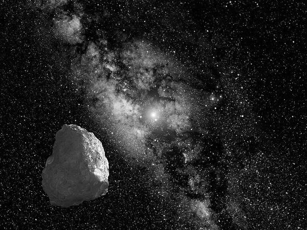 An artist's interpretation of the Kuiper Belt Object.