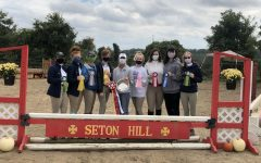 The Allegheny Gators equestrian team poses with their medals during the Intercollegiate Horse Shows Association. The Gators finished second in their first horse show of the year between Oct. 2-3 at Seton Hill University.